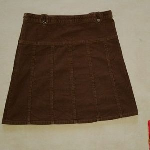 Gymboree Girl's Brown Corduroy Skirt Size 10
